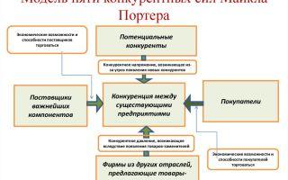 Модель пяти сил портера: важнейшие элементы и пример модели