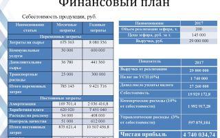 Финансовый расчет бизнес-плана: составляющие и пример